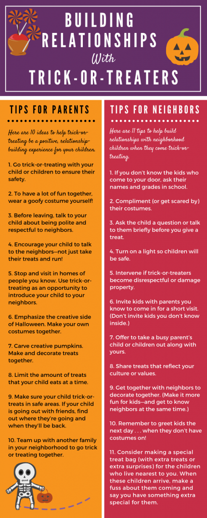 Halloween tips for building relationships